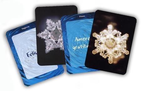 carte dei cristalli dell'acqua