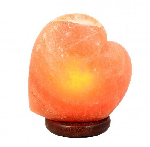 Lampada di sale a forma di cuore