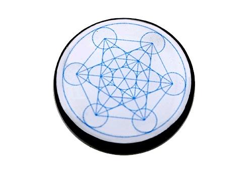 Piastrina per Cellulare in Shungite Cubo di Metatron