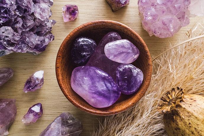 Minerali come l'ametista allontanano le energie negative