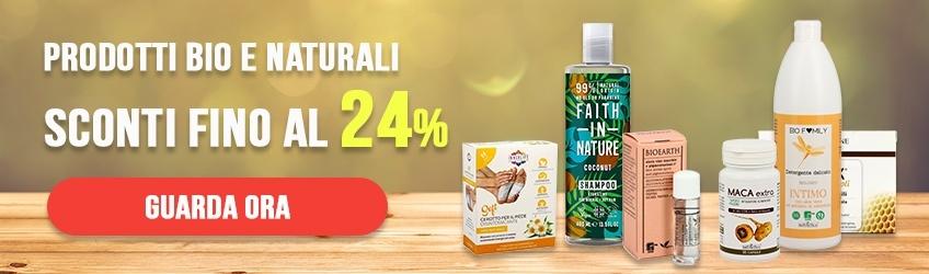 Prodotti Bio e naturali con Sconti fino al 24%