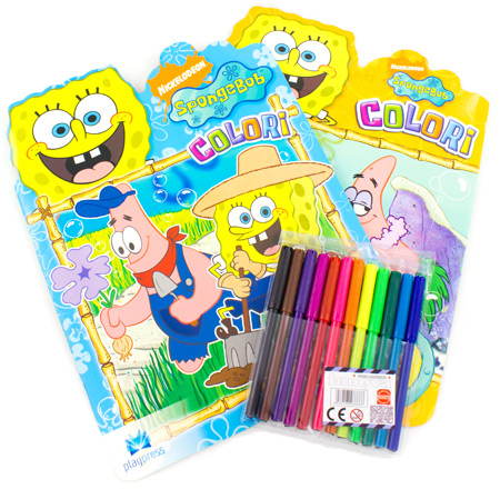 Libri creativit per bambini maschere da colorare - Pagina a colori spongebob ...