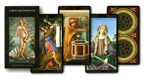 tarocchi dorati di Botticelli