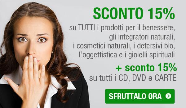 SCONTO 15% su tutto il Bio-Catalogo, CD, DVD, Carte e Agende...
