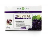 BIOREVITAL - NUOVA FORMULA Integratore alimentare antiossidante con Polifenoli da Vite rossa, Coenzina Q10, Glutatione ridotto, Vitamine A, C, E e Selenio.