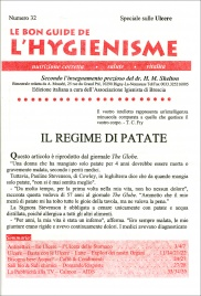 LA BON GUIDE DE L'HYGIENISME - NUMERO 32 - SPECIALE SULLE ULCERE Regime di Patate di Le Bon Guide de l'Hygienisme