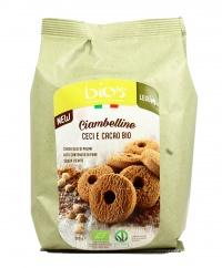 CIAMBELLINE CECI E CACAO BIO Biscotti vegan, senza olio di palma e senza lievito