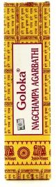 INCENSI NAG - CHAMPA GOLOKA Incenso profumato miscelato con erbe, radici aromatiche, miele e olii naturali.