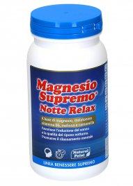 MAGNESIO SUPREMO® NOTTE RELAX A base di magnesio, melatonina, vitamina B6, melissa e camomilla