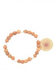 RELEASE BRACELET Braccialetto con semi Rudraksha e perle di Howlite - Infonde pace, chiarezza mentale ed equilibrio