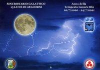 SINCRONARIO GALATTICO 2020/2021 13 Lune di 28 Giorni. Anno della Tempesta Lunare Blu 26/7/2020 - 24/7/2021