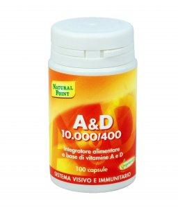 A & D 10000/400 - VITAMINE Integratore naturale utile per il sistema visivo ed immunitario