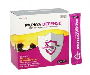 PAPAYA DEFENSE CON IMMUNOTOTAL COMPLEX Integratore alimentare con 100% papaya bio fermentata