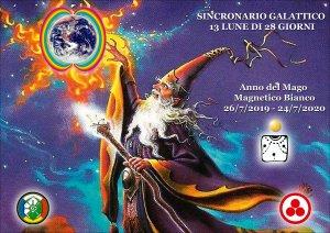SINCRONARIO GALATTICO 2019/2020 13 Lune di 28 Giorni. Anno del Mago Magnetico Bianco 26/7/2019 - 24/7/2020